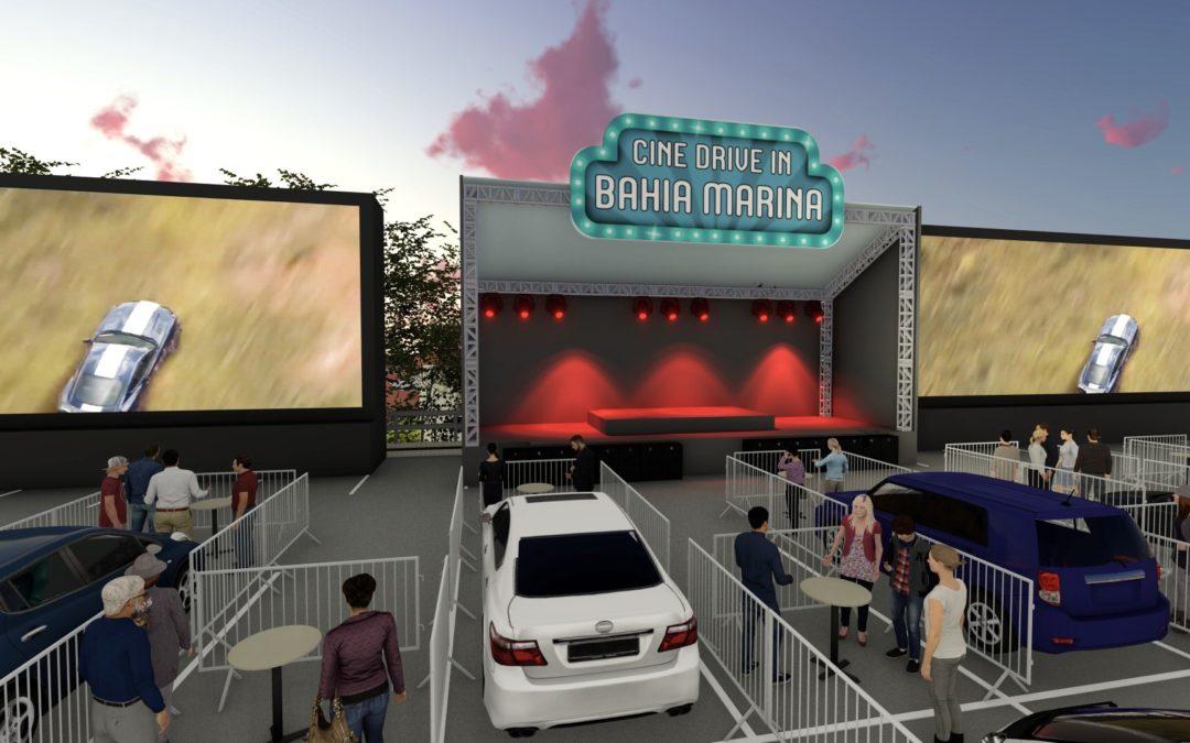 Cinema drive-in chega à Bahia Marina